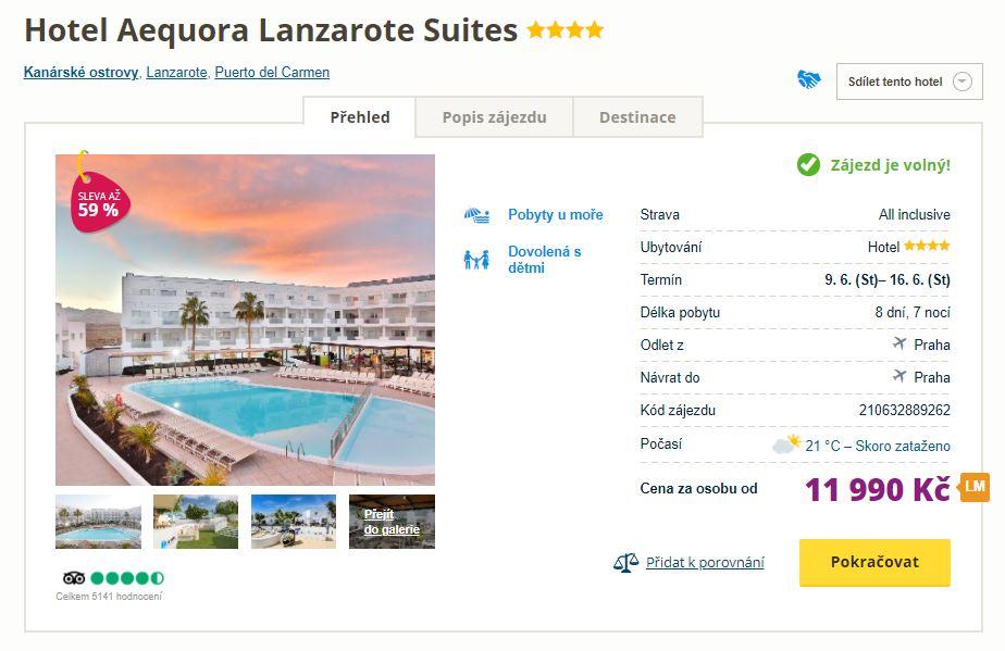 Týdenní pobyt na Lanzarote ve 4* hotelu s all-inclusive
