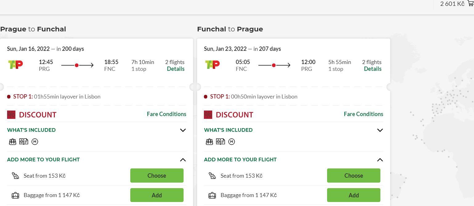 Madeira z Prahy na začátku příštího roku – ultra levné letenky
