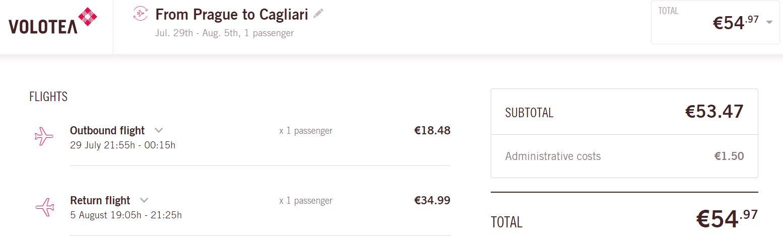 Letní Sardinie: Cagliari z Prahy