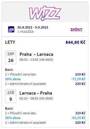 Kypr o letních prázdninách z Prahy