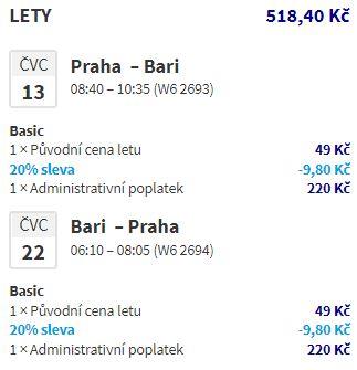 Prázdninová Apulie: Bari z Prahy