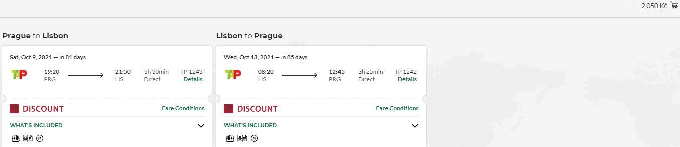 Portugalsko: přímé lety z Prahy do Lisabonu za skvělou cenu