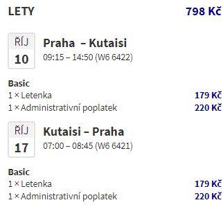 Podzimní letenky z Prahy do Gruzie