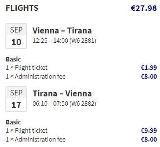 Albánie: Tirana z Vídně během září a října