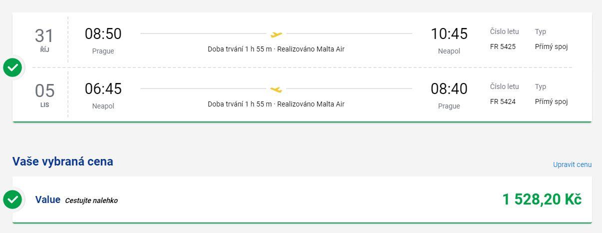 Ryanair: nová linka z Prahy do Neapole