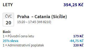 Červencová Sicílie z Prahy (Katánie i Trapani)