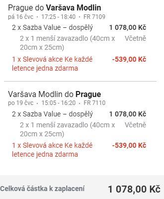 Akce Ryanairu: 1+1 letenka zdarma (z Prahy i okolních letišť)