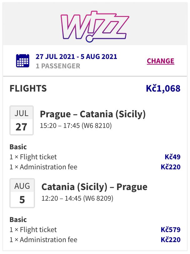 Letní Sicílie z Prahy za hubičku