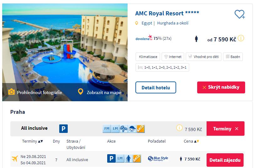 Zájezd do Egypta: 5*hotel s all inclusive