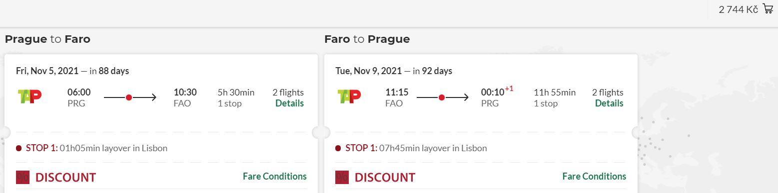 Z Prahy na jih Portugalska do Fara