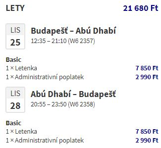 Extra levné letenky z Budapešti do Dubaje a Abú Dhabí