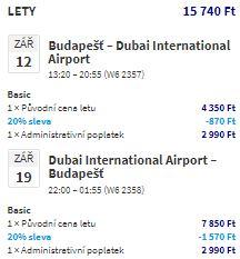 Letenky do Dubaje za neuvěřitelnou cenu – z Budapešti