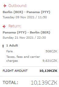 Středoamerická Panama z Berlína