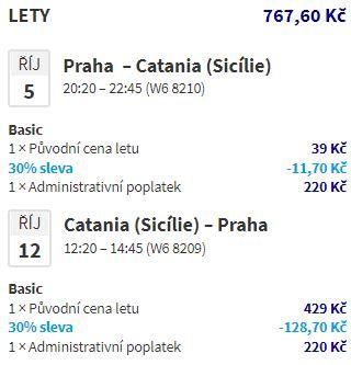 Říjnové Sicílie z Prahy: levné letenky do Katánie