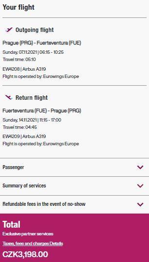 Přímé lety z Prahy na Kanárské ostrovy s Eurowings