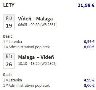 Říjnové letenky do Malagy z Prahy nebo Vídně