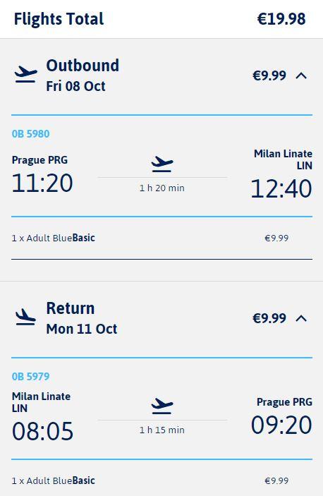 Na prodloužený víkend z Prahy do Milána