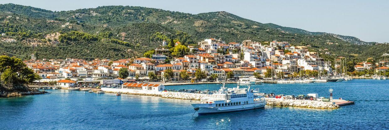 Řecký ostrov Skiathos z Vídně