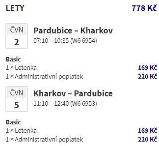 Nové linky z Pardubic na Ukrajinu do Charkova a Oděsy