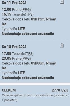 Přímé lety z Prahy na Tenerife aneb Smartwings vrací úder