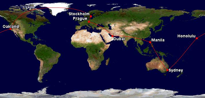 Cesta kolem světa – Dubaj, Filipíny, Austrálie, Havaj – 22810 Kč