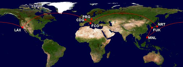 Cesta kolem světa co nejlevněji -18 699 Kč