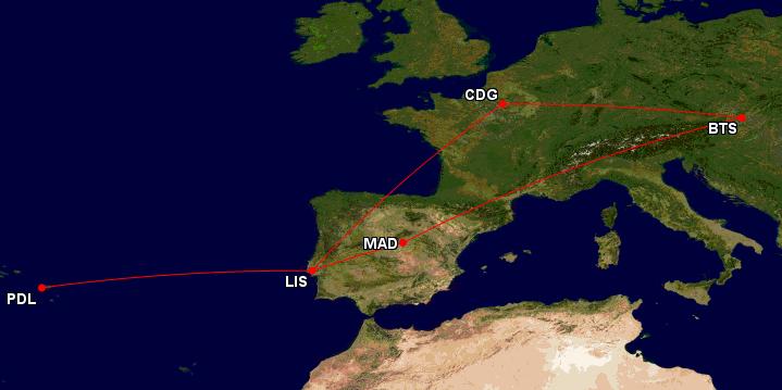 Paříž, Lisabon, Madrid a Azorské ostrovy během jedné cesty za 2486 Kč