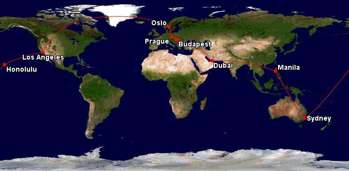 Cesta kolem světa – 22 040 Kč