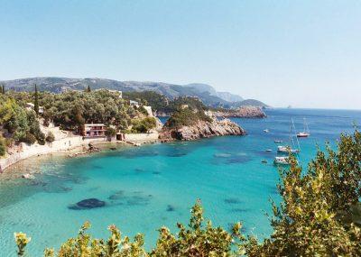 řecký ostrov Korfu